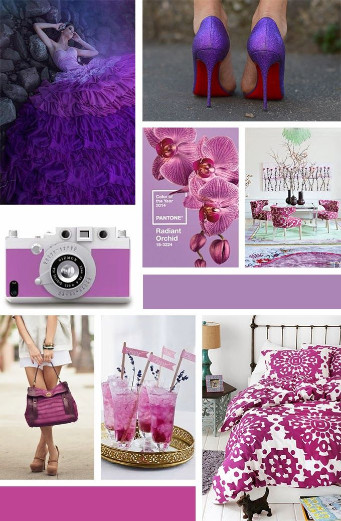 Antipodean Diaries - Pantone Colour of the Year 2014 - Radiant Orchid 18-3224