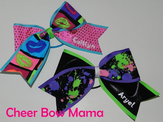 Personalized Cheer Bow by Cheer Bow Mama