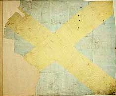 The Appin Stewart Regiment Flag. The Clan Stewart of Appin. The Flag was Raised at The Battle of Culloden in 1746. The Flag is a St. Andrew's Cross on a Field of Blue. Donald Livingstone, an 18 Year Old Highlander in the Appin Regiment, Bravely Rescued the Banner and Escaped, later Presenting it to his Mother in Morvern, Lochaber, Scotland, after which it Hung in Edinburgh Castle. Almost All of the other Jacobite Flags from Culloden were Burned in Edinburgh...