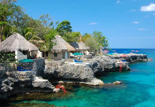 An award-winner in Jamaica, the Rockhouse Hotel was selected as one of the world�s best resorts in 2013 by Travel   Leisure readers�and is one of only a handful that was also marked as a great value. Jamaican accommodations consistently present off-beat charm, and Rockhouse is no exception. A boutique resort set into 8 acres of Jamaican tropical gardens, Rockhouse�s sleep options include the premium villas pictured here�thatched roof cottages perched directly over the water with private ...