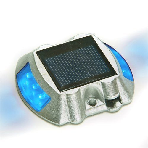 Solar Road Path Deck Dock Warning Lights With Blue LEDs 12 Pack By Reusable