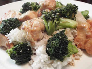 Lighter sesame chicken...almost as good as what you'll find in a ...