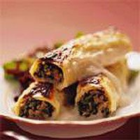 Veal, Lemon and Spinach Cannelloni in Cheese Sauce
