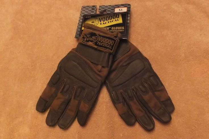VOODOO TACTICAL Leather Padded INTRUDER GLOVE in coyote  LARGE #VooDooTactical #Intruder