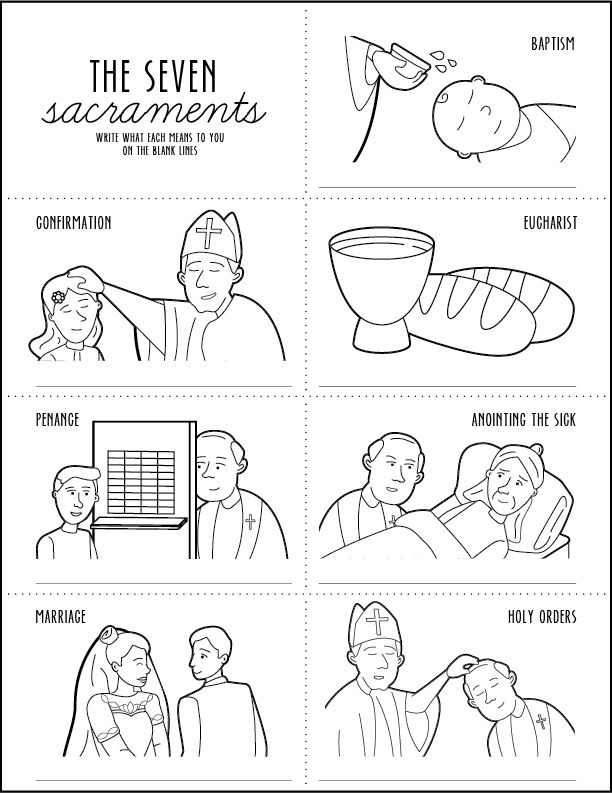 seven sacraments coloring pages | Murderthestout