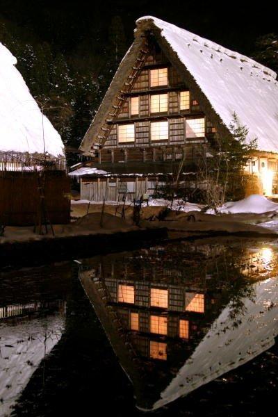 白川郷合掌作り 世界遺産1995  Shirakawago Gashoutukuri. World Heritage in 1995