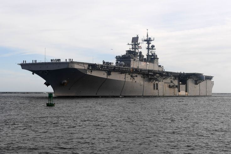 JACKSONVILLE, Fla. (Oct. 28, 2016) The amphibious assault ship USS Iwo Jima (LHD 7) returns to Naval Station Mayport after conducting humanitarian assistance and disaster relief as part of Joint Task Force (JTF) Matthew. The task force conducted 400 hours of flight operation and delivered 600,000 lbs. of humanitarian relief supplies to some of the most impacted areas from the storm, directly aiding an estimated 100,000 citizens in the process.