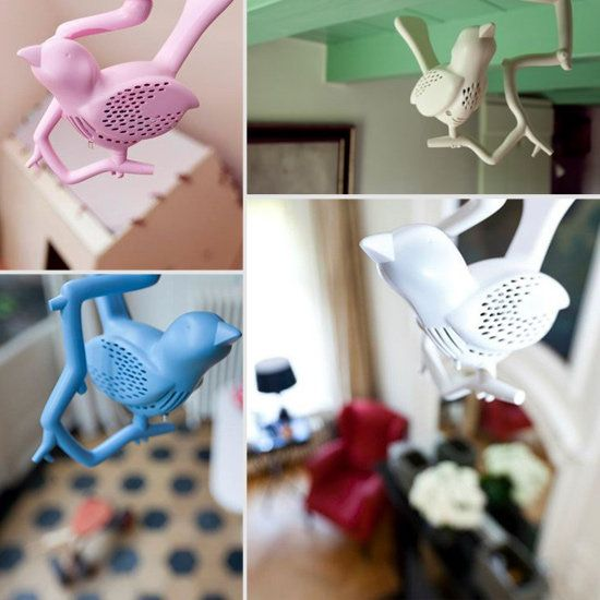 Chick-A-Dee - the bird shaped smoke detector that chirps instead of beeps. Genius!