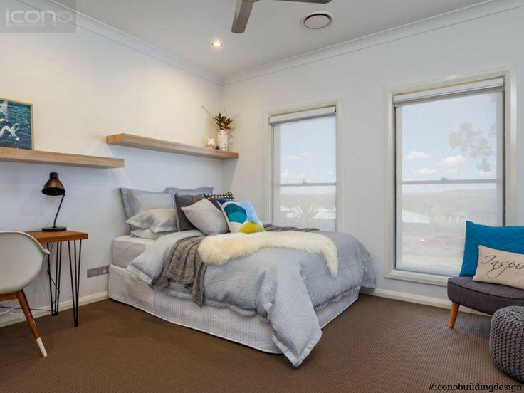 #bedroom #iconobuildingdesign #homedecor #australian #home #floatingshelves