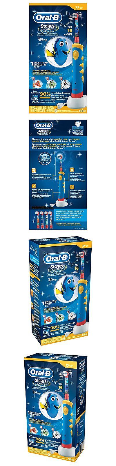Childrens Oral Care: Oral B Pro-Health Stages Oral-B Power Brush - Finding Dory Toothbrush For Kids BUY IT NOW ONLY: $49.09