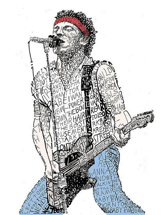 Bruce Springsteen  Springsteen affiche  par LegendarySportsPrint