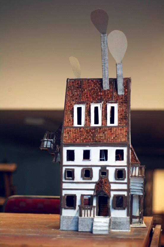 Cardboard house.