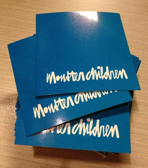 Monster Children promotional stickers in glossy stickers material!
