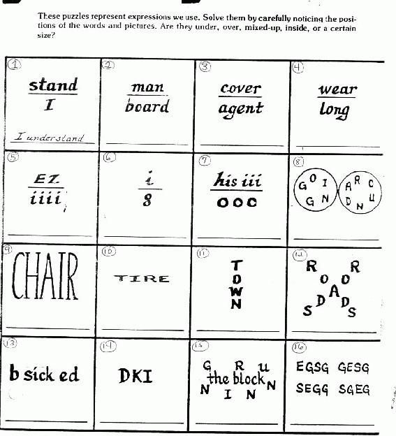 Puzzles Brain Teasers With Answers Printable Brain Teasers Brain Teasers For Kids Picture Puzzles Brain Teasers Brain teaser printable worksheets