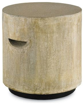 Eltham Stool - Industrial - Outdoor Footstools And Ottomans - by Currey & Company, Inc.