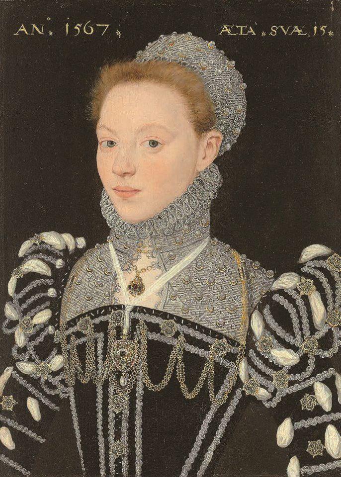 1567 Susan Bertie, later Countess of Kent (aged 15). Artist: Master