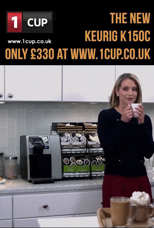 Keurig K150C, the most versatile and affordable office beverage machine is now even better. The new K150C model can brew even more drinks than before , so fill up on Starbucks coffees or Twinings teas at the touch of a screen. #Keurig K150C #Keurig #K-Cup Pods