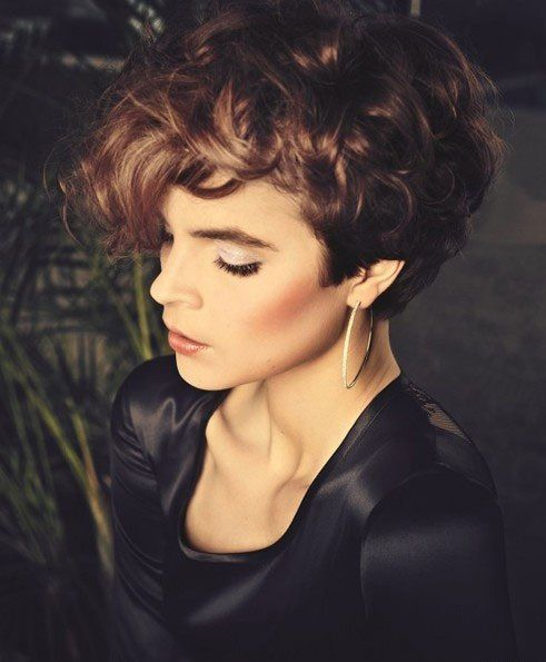 curly pompadour short hair cut   haircut ideas   Pinterest   Shorts, Pompadour and Curly Hairstyles