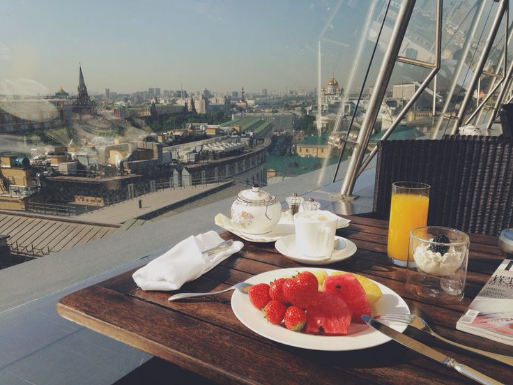 Breakfast with the view from the roof