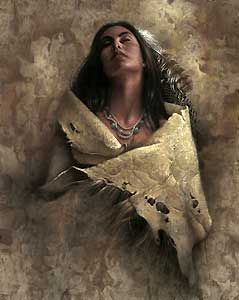 At Peace - Lee Bogle - World-Wide-Art.com - $550.00 #LeeBogle #NativeAmerican
