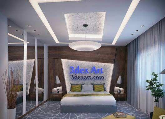 new false ceiling designs ideas for bedroom 2018 with led lights rh pinterest com Elegant Bedroom Ceiling Design Modern Design Wood Ceiling