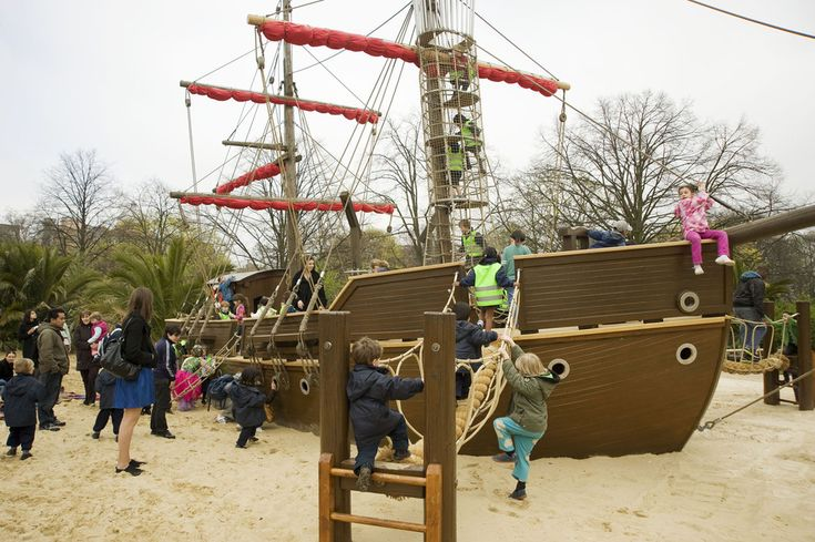 Diana, Princess Of Wales Memorial Playground has a pirate ship centerpiece.