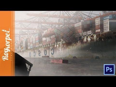 Abandoned Harbor - Port of Rotterdam   Photoshop CS6 Time Lapse video