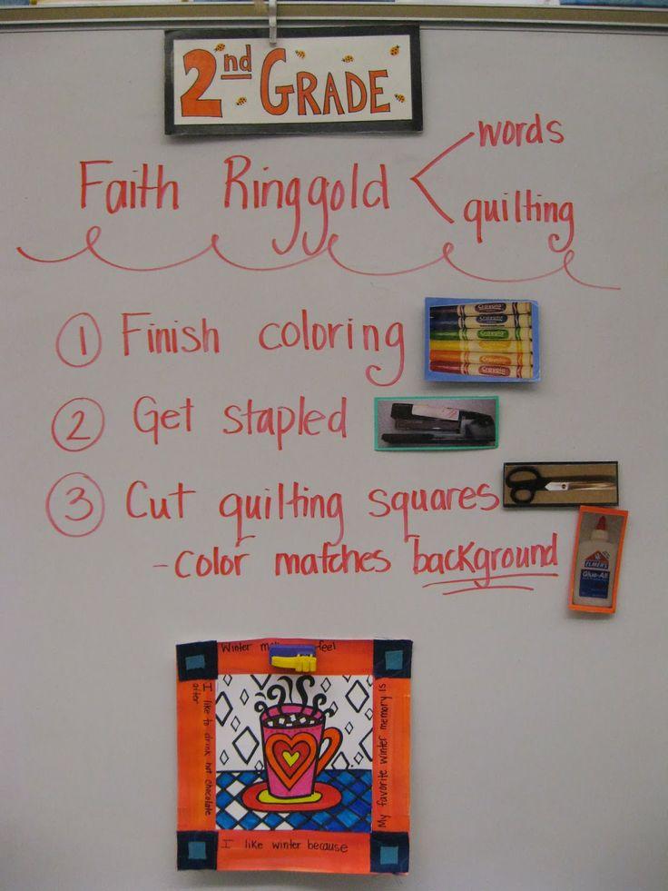 Jamestown Elementary Art Blog: 2nd Grade. Faith Ringgold Mugs