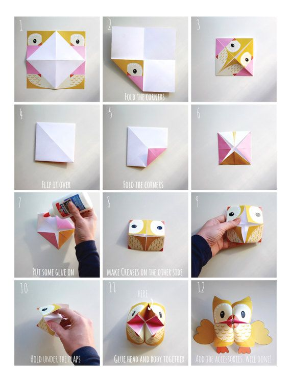 PRINTABLE WOODLAND Animals Cootie Catchers PDF download