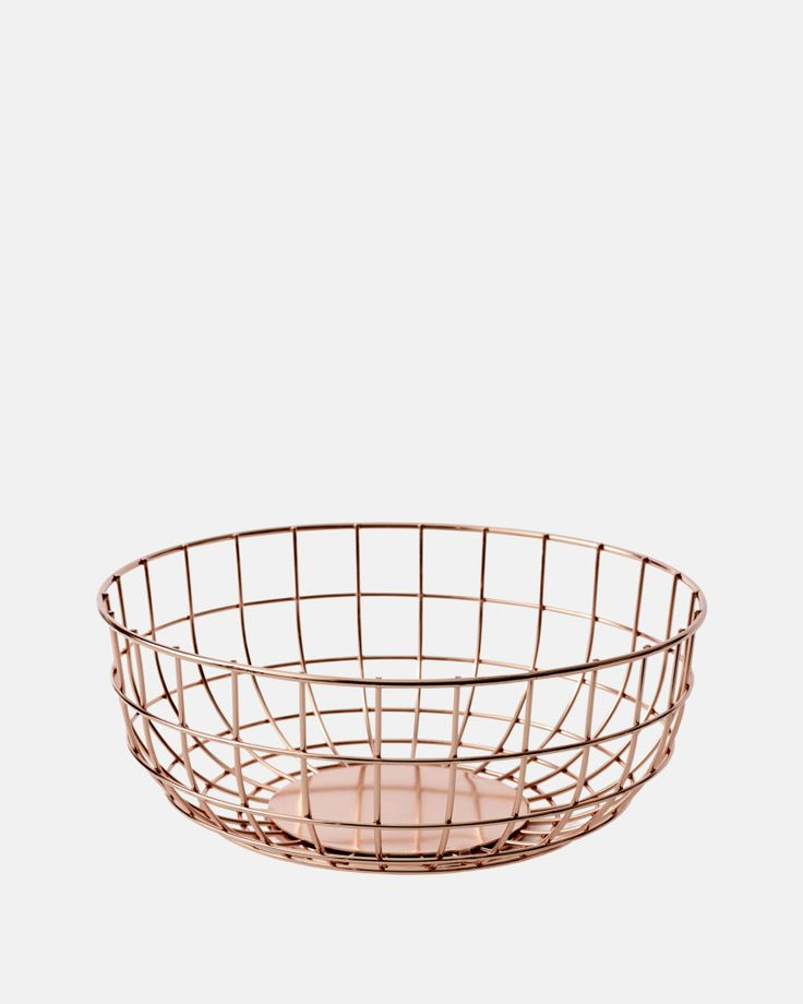 Wire Bowl in Copper by Menu