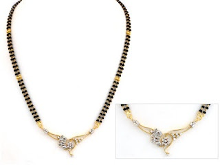 Mangalsutra – The Mangalsutra is a very auspicious ornament worn by Indian women and it symbolizes her marital status. Typically, a Mangalsutra consists of a long chain of black and gold beads with gold, diamond of silver pendant hanging from it.