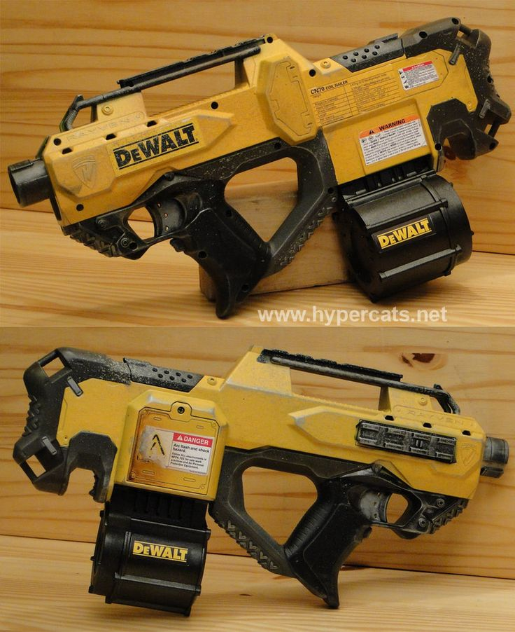 custom Dewalt themed Nerf Rayven~meowymeowmeow on deviantART. Find this Pin  and more on Painted Nerf Guns ...