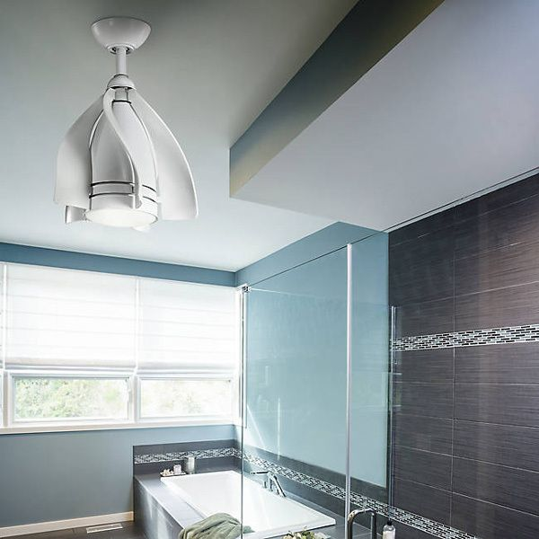 Kichler Terna 15 Led Pendant Ceiling Fan Is A Unique Great For Bathrooms