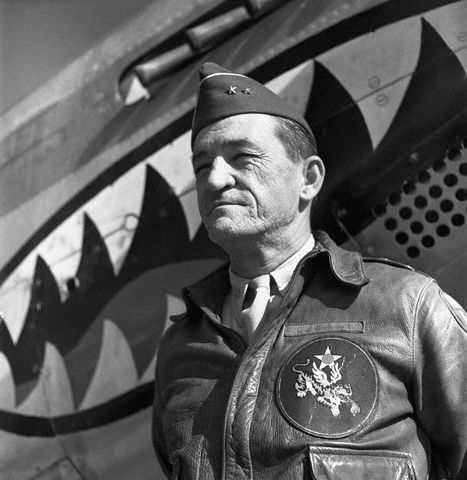 Gen Claire Chennault (1893 - 1958) Leader of the Flying Tigers air group in China in World War II