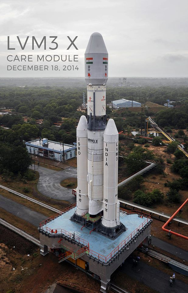 The GSLV Mk. 3 rolls out to the launch pad earlier in December. Credit: ISRO