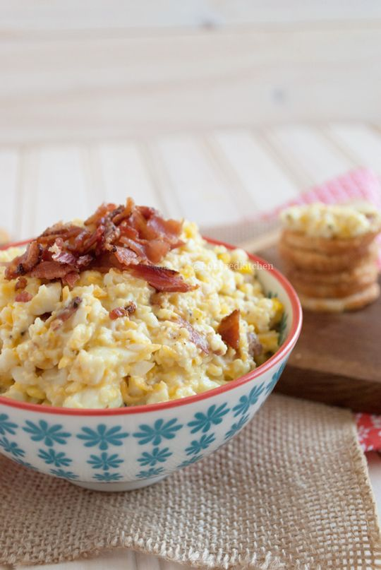 An egg salad with bacon and cheddar - sounds amazing right? | in my Red Kitchen (gluten free)