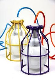 coloured cage light