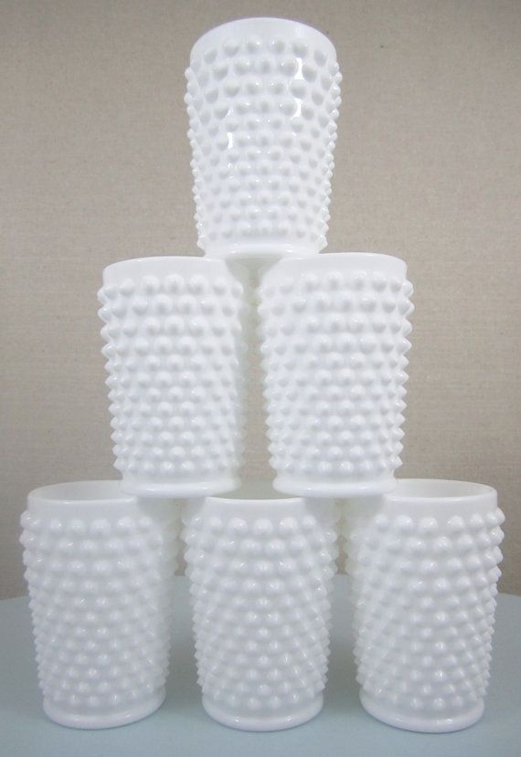 tumblers.......I would LOVE to have a set of theese white milk glass