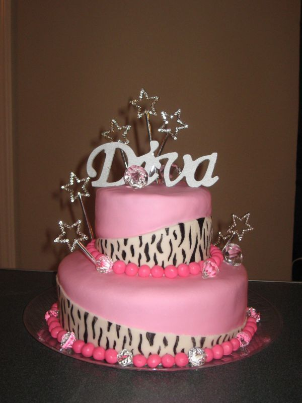 Image detail for -Happy Birthday Diva , February 24th - Butch Femme Planet. Love this cake !
