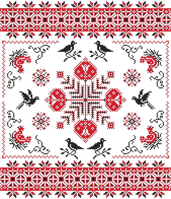 Ukrainian Cross stitch cloth ~Gorgeous!! ~csd<3