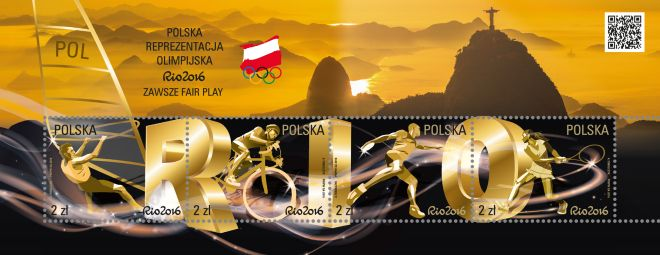 Rio 2016 olympic stamps poland