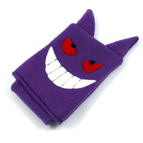 Gengar Pokemon Nintendo DS case pouch fleece by fleacircusdesigns, $25.00