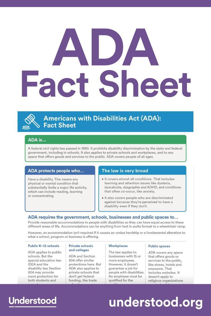 Ada Fact Sheet In 2020 Fact Sheet Special Education Law
