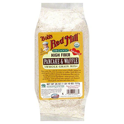 Bobs Red Mill Pancake  Waffle Mix Hi Fiber Whole Grain Organic 260 OZPack of 3 ** To view further for this item, visit the image link.