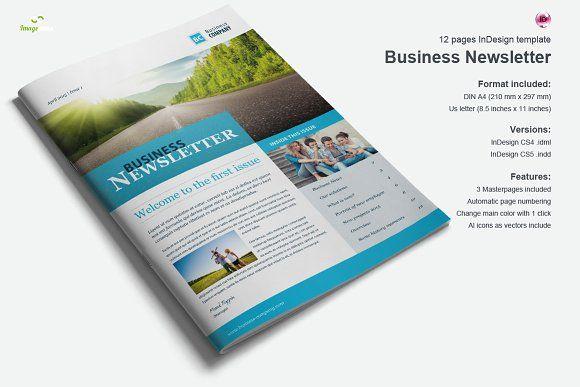Business Newsletter Vol.2 by Imagearea on @creativemarket