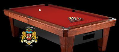Other Billiards Accs and D cor 21210: 7 Simonis 860 Red Pool Table Cloth Felt W Free Matching Chalk -> BUY IT NOW ONLY: $226.99 on eBay!