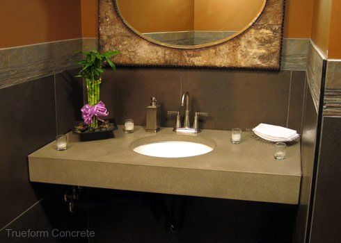 8 Best Images About Concrete Vanity Top Trueform Concrete On Pinterest Gray Vanities And