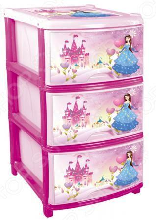 Альтернатива «Принцесса»  — 2318р. ----------------------------- Комод Альтернатива Принцесса это незаменимый атрибут детской комнаты. Три выдвижных вместительных ящика, удобные ручки и устойчивые ножки обеспечат комфортное хранение одежды, белья, игрушек и различных аксессуаров вашей малышки. Модель изготовлена из прочного, качественного пластика, поэтому прослужит долго. Украшенный дизайнерским принтом комод Альтернатива Принцесса , обязательно понравится вашей девочке и разнообразит…