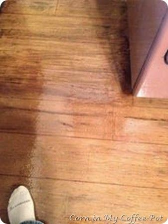 Corn in My Coffee Pot: :: The New Paper-flooring-Pt.2 DIY