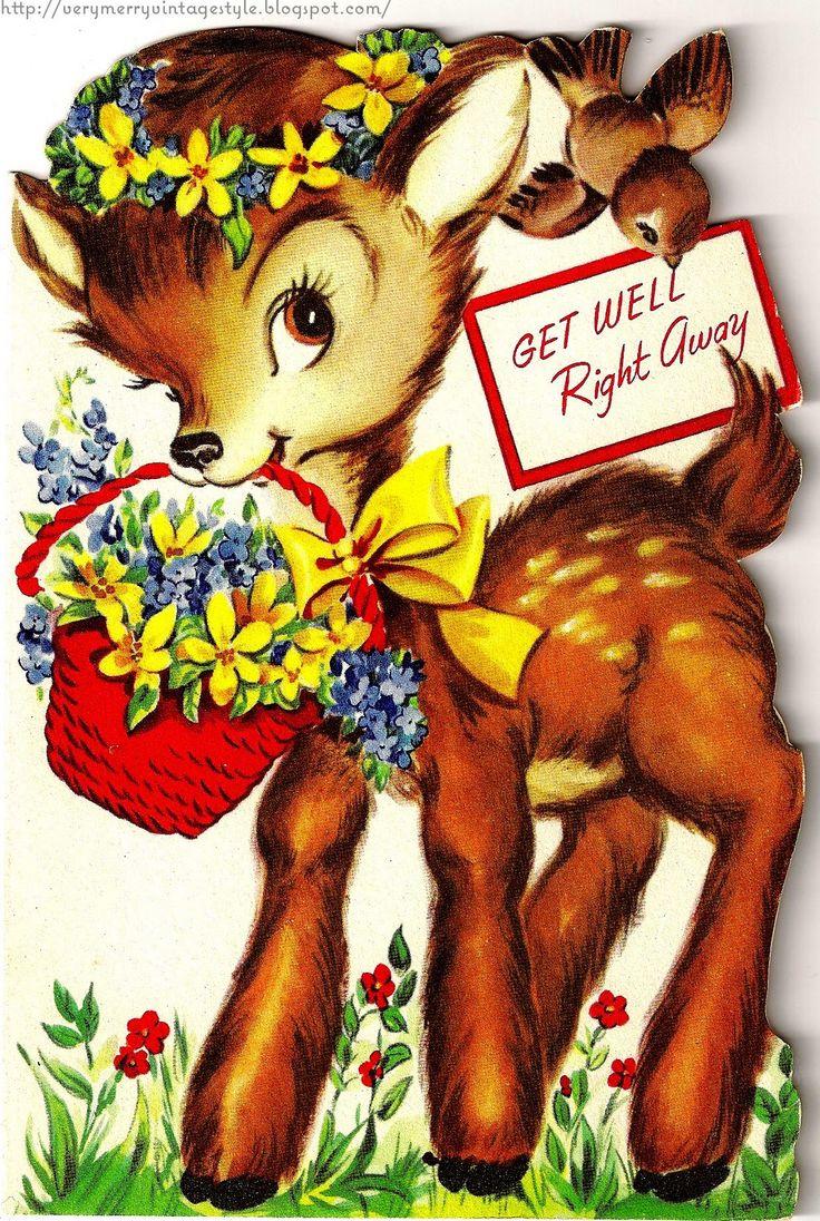 329 best vintage greeting cards images on pinterest vintage vintage deer card kristyandbryce Image collections